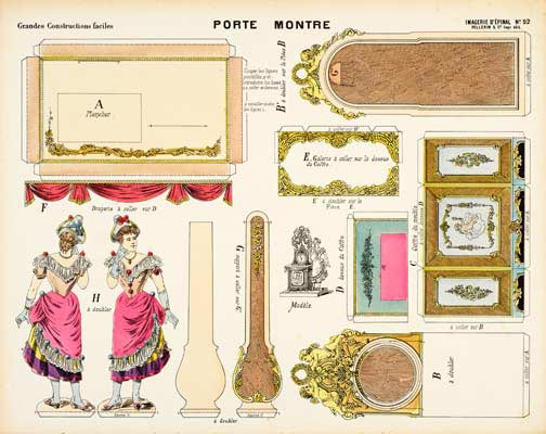 Rellotge francés amb figura femenina.