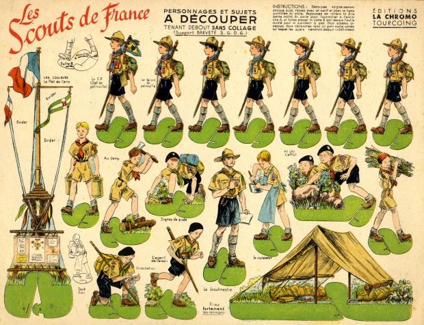 La chromo Tourcoing. Scouts