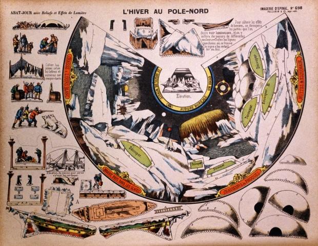 698. Abat-Jour. L'Hiver au Pole-Nord. Epinal [F] 1885 (foto)
