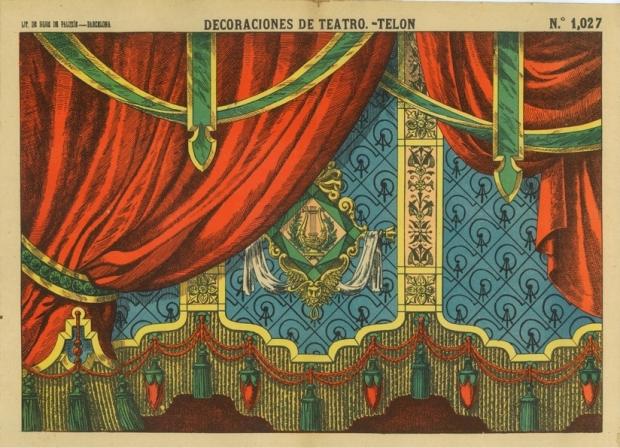 1027 D.T. Telón. Lit.de Hijos de Paluzie. BCN (1901)