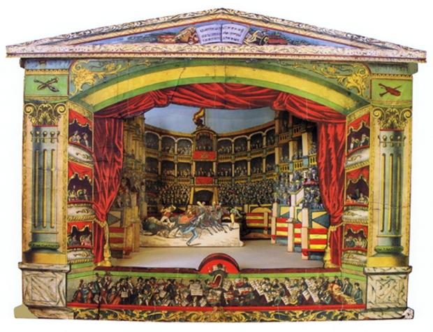 996 [1] Embocadura de Teatro con corrida de toros. Paluzie. BCN ca.1986