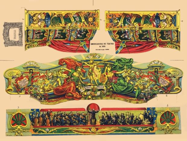 996 [2] Embocadura de Teatro. Lit. de Hijos de Paluzie. BCN 1901