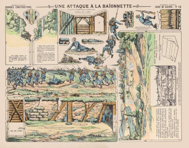 12-Une-ataque-à-la-baïonnette.-Série-de-guerre.-G.C.-Épinal.(1915-1916)