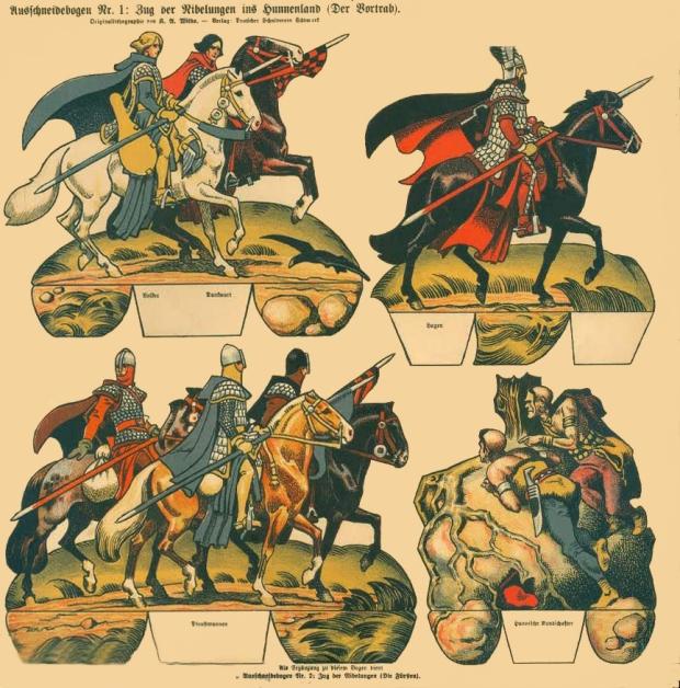 """Extraordinari full alemany del """"Nibelungos"""" adaptat a Ópera per Richard Wagner."""