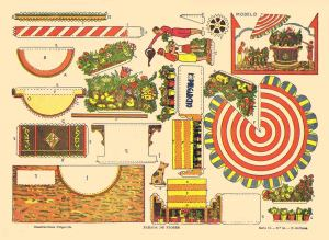 A.-Barcelona.-Nº55-Parada-de-Flores.-[Las-Ramblas-de-Barcelona]--Serie-II.-Pulgarcito.-Bcn.[CAT]-ca.1935-36