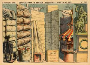 A.-Barcelona.-Teatro.Nº-502.-PUERTO-DE-MAR-(bastidors).-Lit.-Hijos-de-Pauzie,-BCN-[CAT]-1901-1912