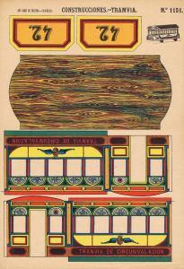 A.T.-Barcelona.-Nº1151-CONSTRUCCIONES-TRAMVIA.-Lit.-Hijos-de-Paluzíe.-Barcelona-1901