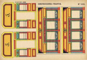 A.T.-Barcelona.-Nº1152-CONSTRUCCIONES-TRANVIA.-Lit.-Hijos-de-Paluzíe.-Barcelona-1901