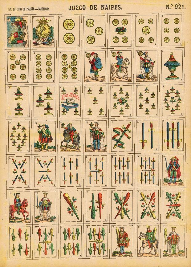 Paluzie.-Nº921.-JUEGO-DE-NAIPES.-Lit.-de-Hijos-de-Paluzie.-1901