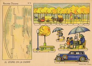 Roma,-Ed.-Nº-8-Recorte-Diorama-EL-OTOÑO-EN-LA-CIUDAD-[Barcelona]