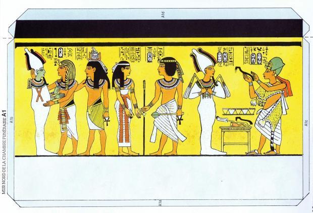 L'Instant-Durable.-Nº-22-TOUTANKHAMON-Égypte.-(DETALL-MUR-NORD-DE-LA-CAMBRA-FUNERÀRIA)-Ed.L'Instant-Durable-Clermond-Fd.-[F]-1990