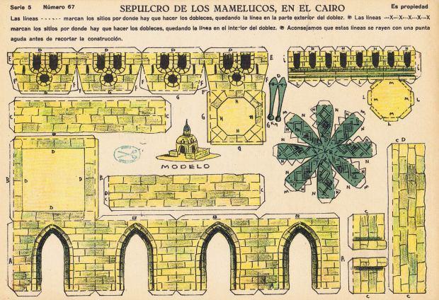 La-Tijera.-Nº67-SEPULCRO-DE-LOS-MAMELUCOS,-EN-EL-CAIRO.-Serie-5.-E-Madrid-ca.1926