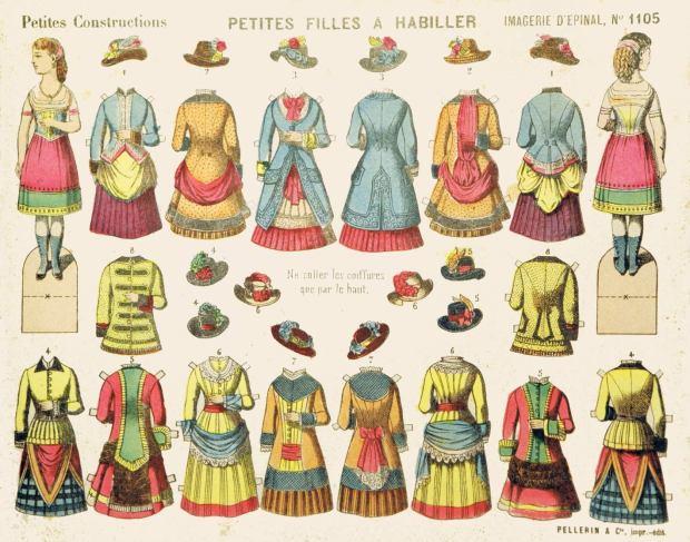 Moda.-Pellerin-&-Cie.1105-PETITES-FILLES-À-HABILLER-P.C.-Imagerie-d'Épinal-F-Épinal-ca.1888